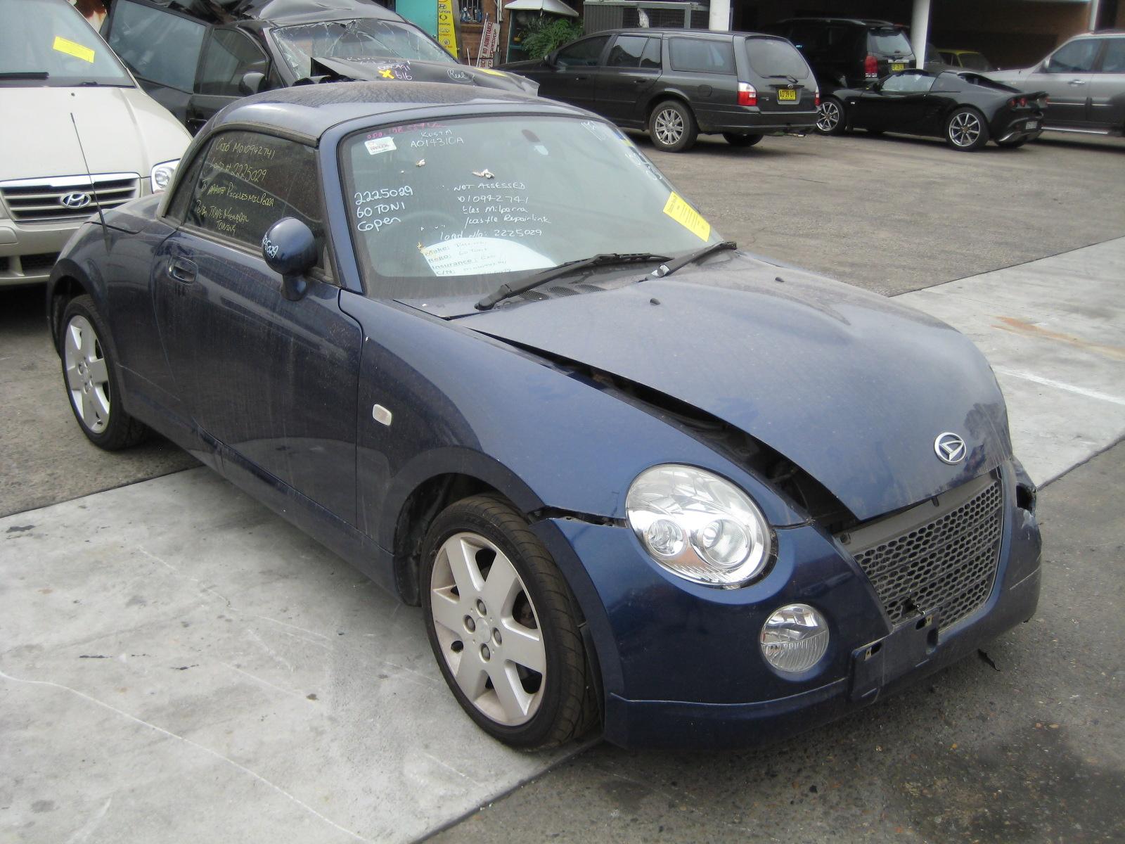 wrecking daihatsu copen 0 7i m blue for auto parts