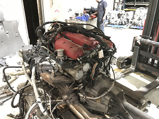 Now wrecking Ferrari 612 Scaglietti used engine - NMW
